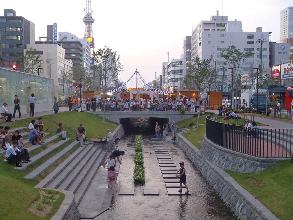 札幌市石狩川水系創成川