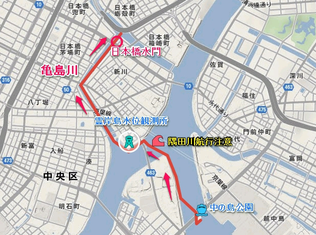 06.スタートから亀島川