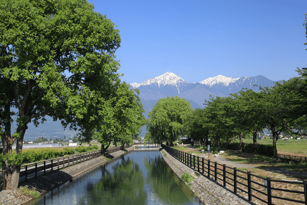 拾ヶ堰(信濃川水系奈良井川)