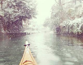 水上のゲレンデ<br>~吹雪カヤックツーリング~