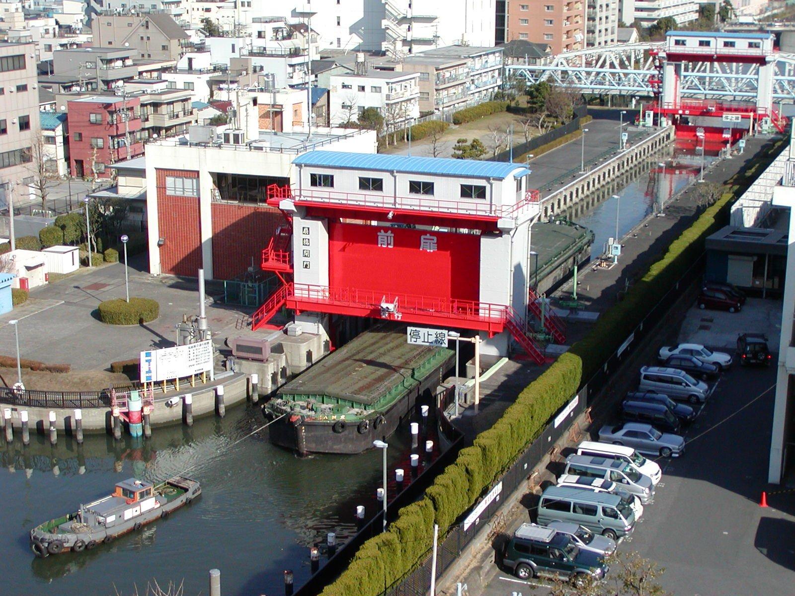 東京のパナマ運河「扇橋閘門」