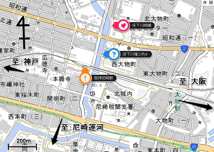 ⑪床下川地図