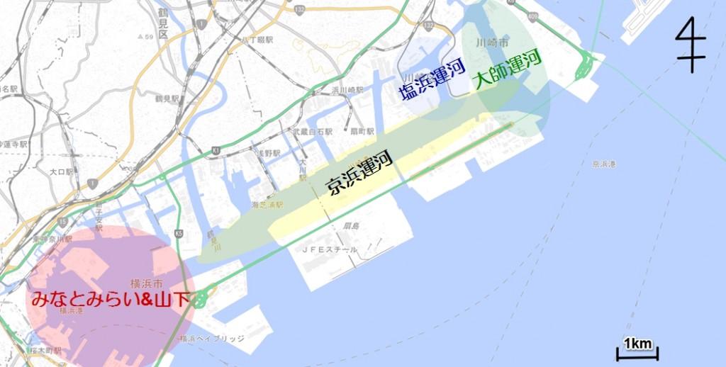 京浜運河全図