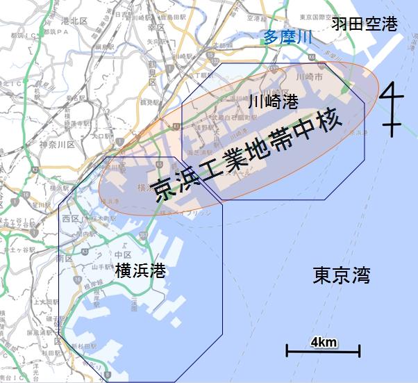 京浜工業地帯地図