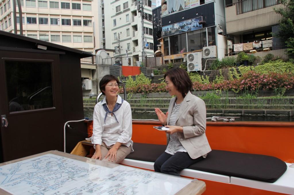 開放感のある舟座敷
