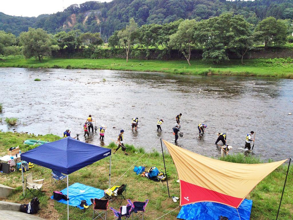 広瀬川 大人のための川遊び講座