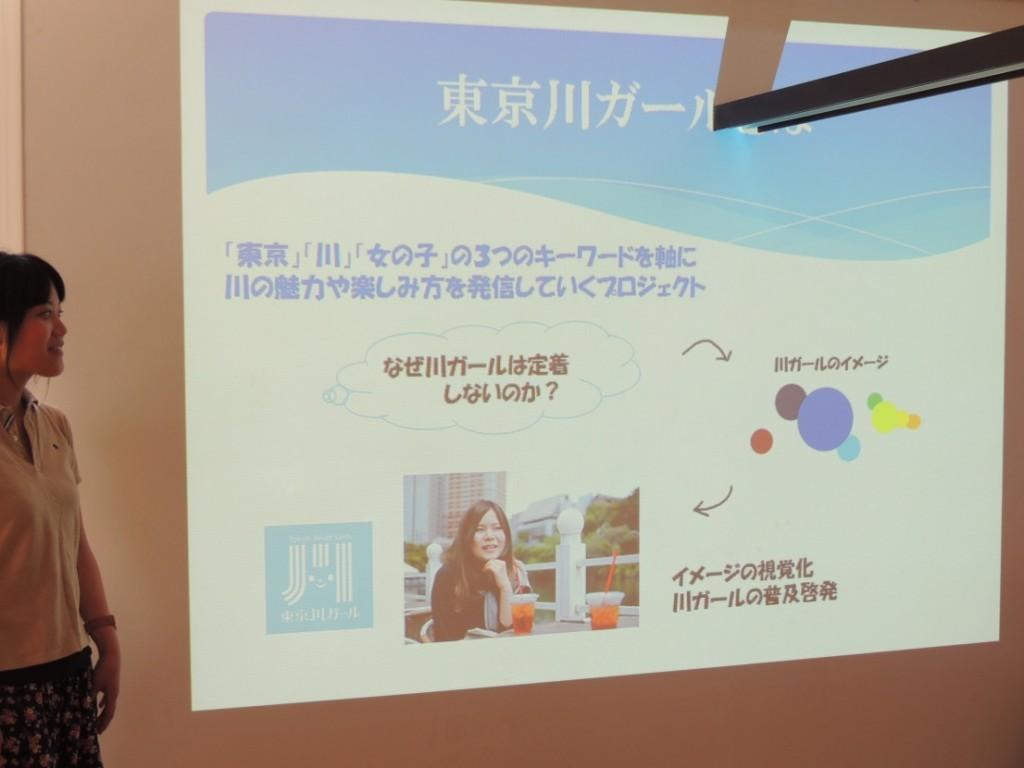 東京川ガールについてのイメージ等の調査結果をまとめた。
