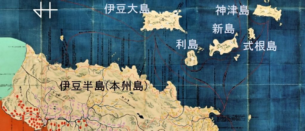7-1伊豆諸島&伊豆半島地図