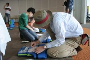 11歳の男の子と一緒に参加したお父さん。息子を見ているうちにむずむずして思わず参加