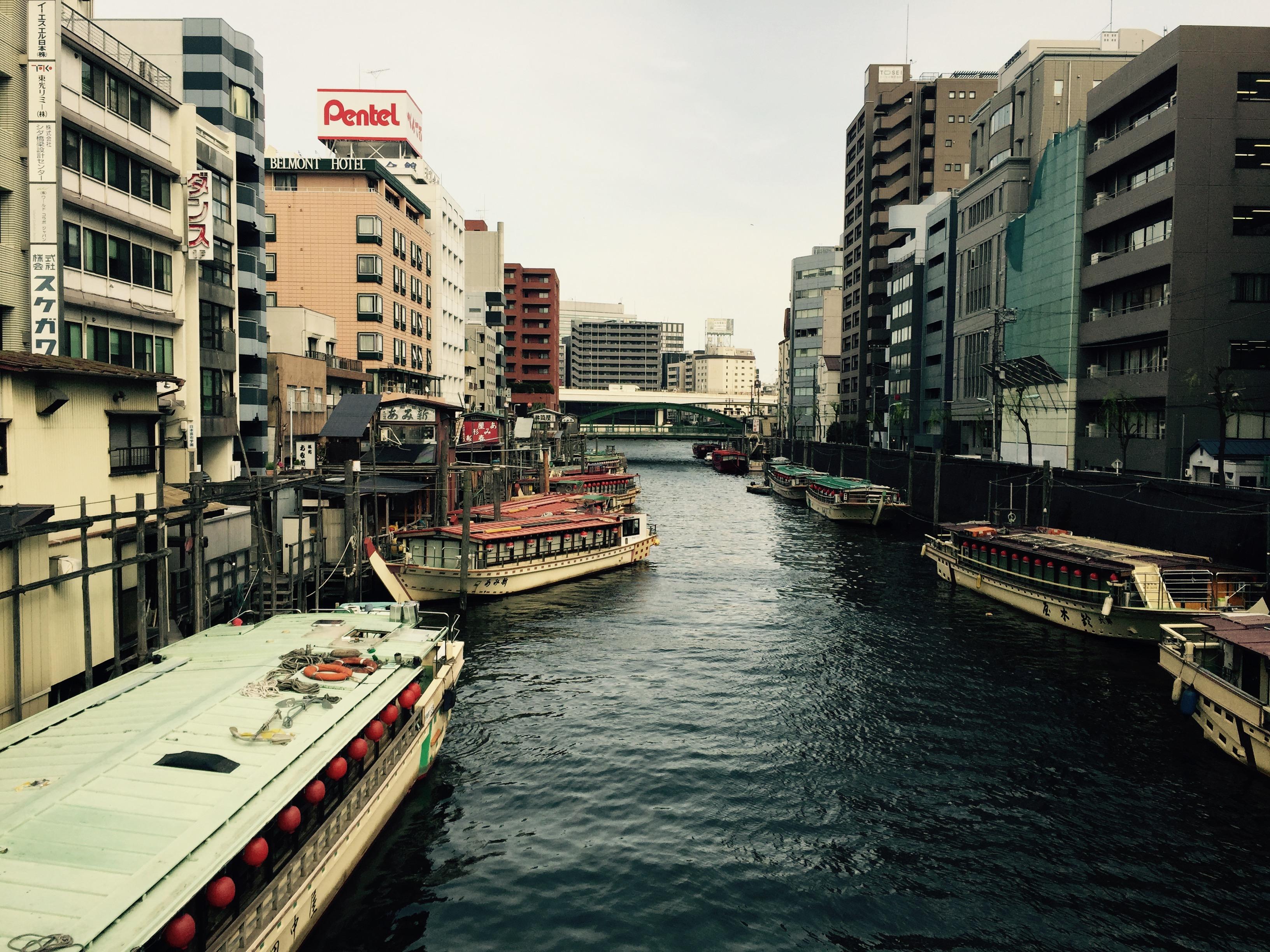 浅草橋から柳橋を望む