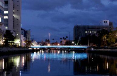 新町川の水辺で開催されている「藍LOVE新町川」
